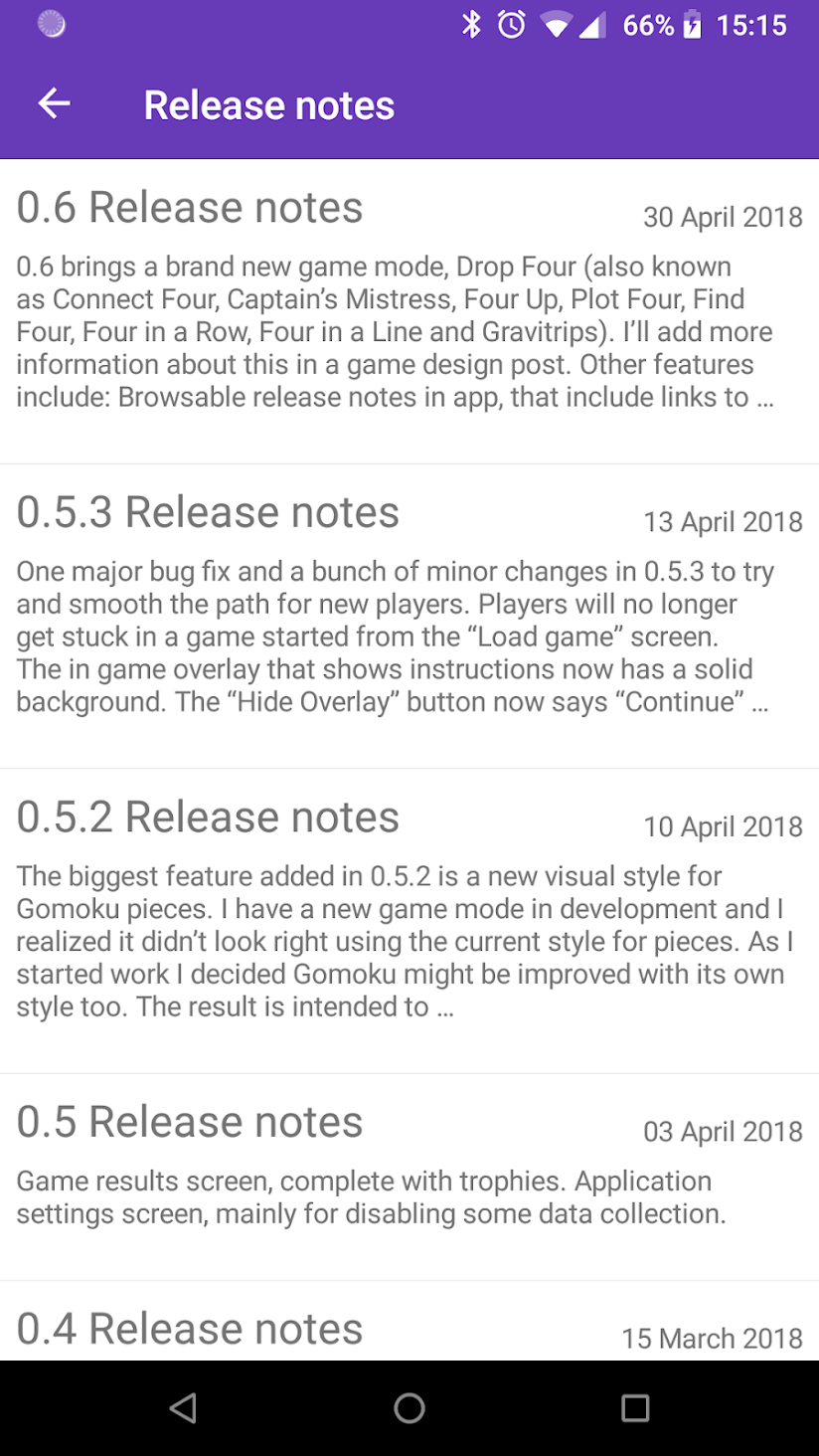 Release notes in 0.6